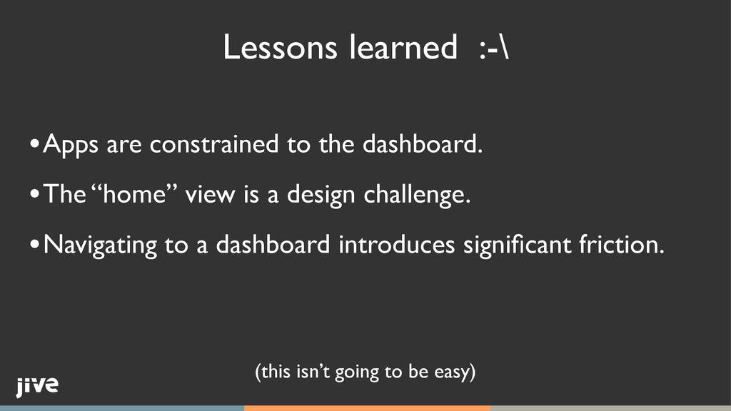 Lessons learned :-\ (this isn't going to be eas...