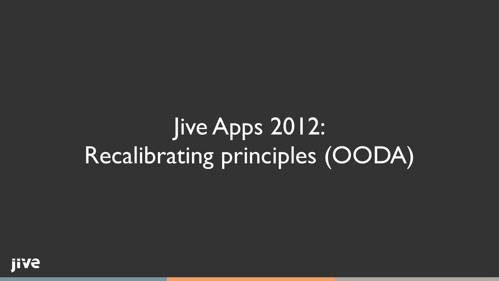 Jive Apps 2012:	 