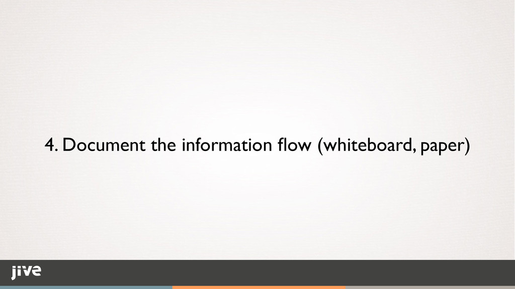 4. Document the information flow (whiteboard, pa...