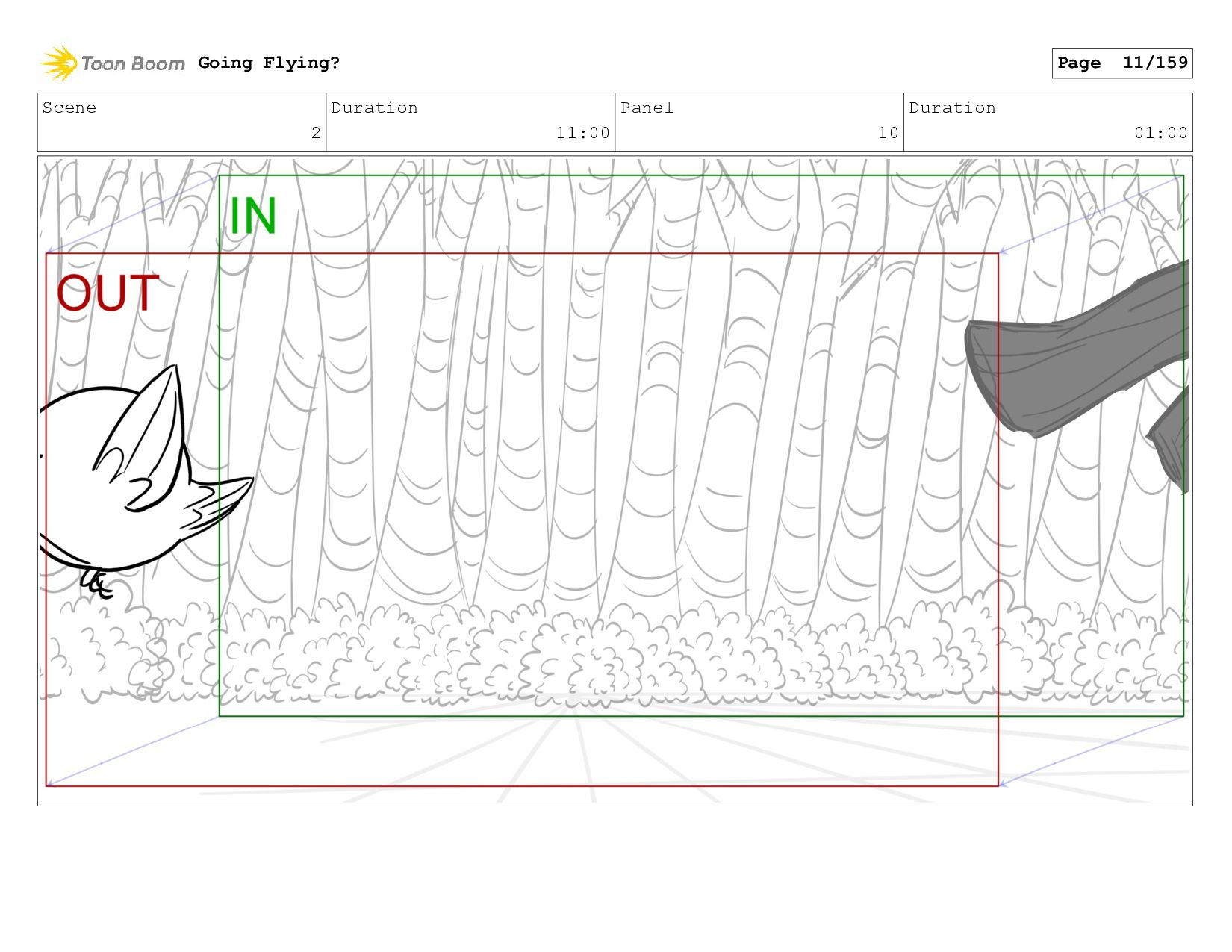 Scene 2 Duration 11:00 Panel 10 Duration 01:00 ...