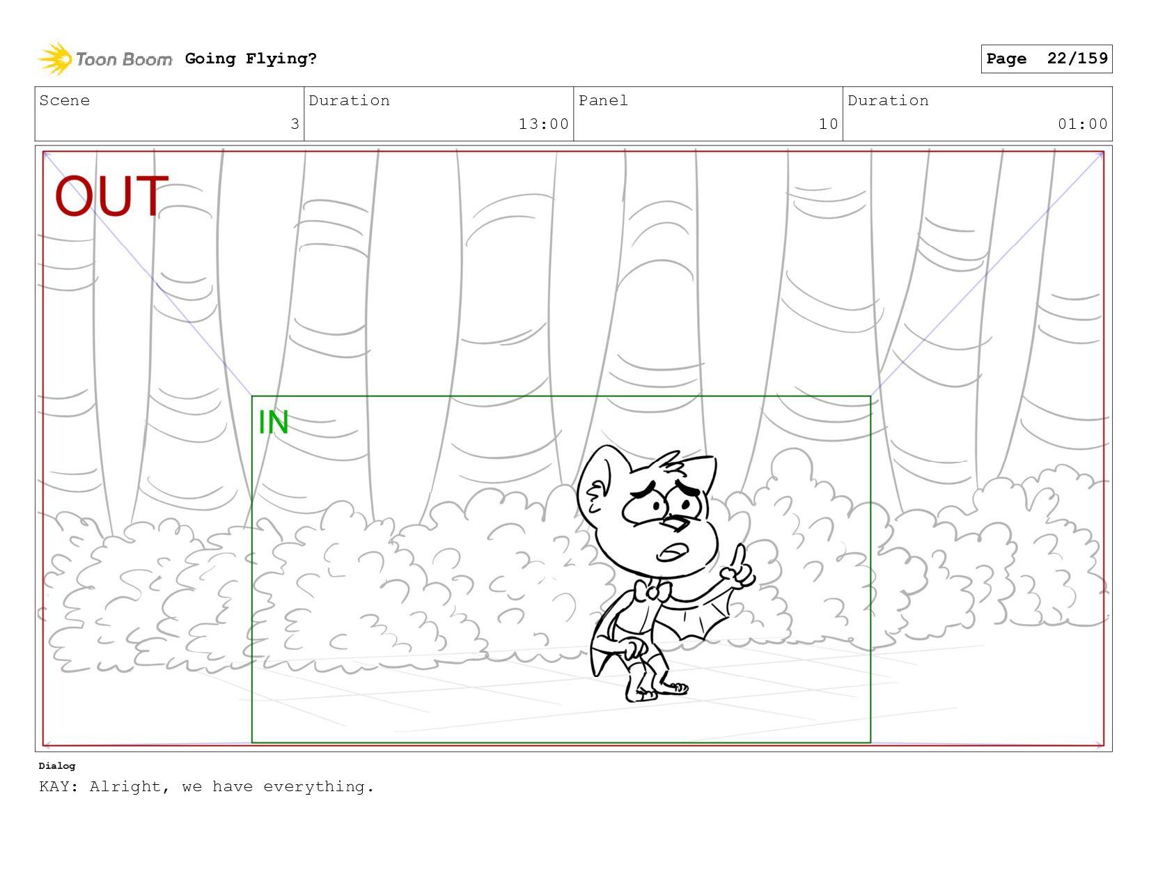 Scene 3 Duration 12:00 Panel 10 Duration 01:00 ...