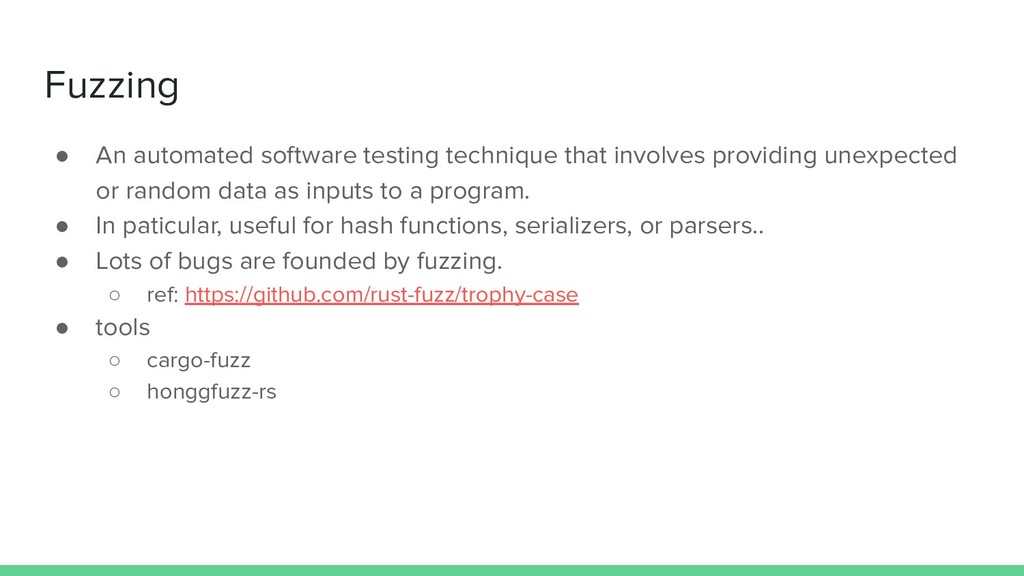 Fuzzing ● An automated software testing techniq...