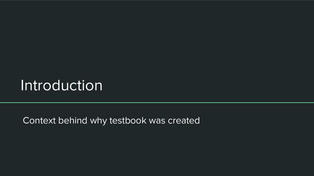 Introduction Context behind why testbook was cr...