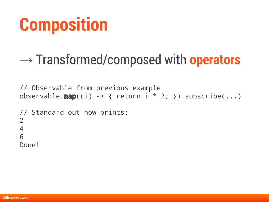 Composition → Transformed/composed with operato...