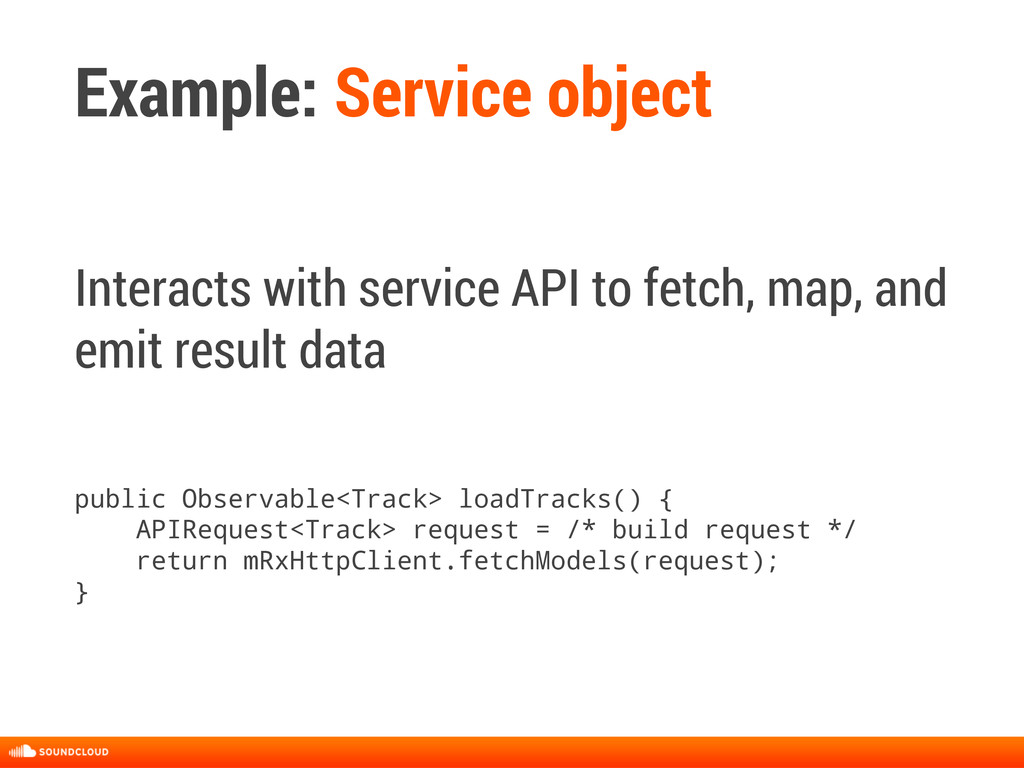 Example: Service object Interacts with service ...