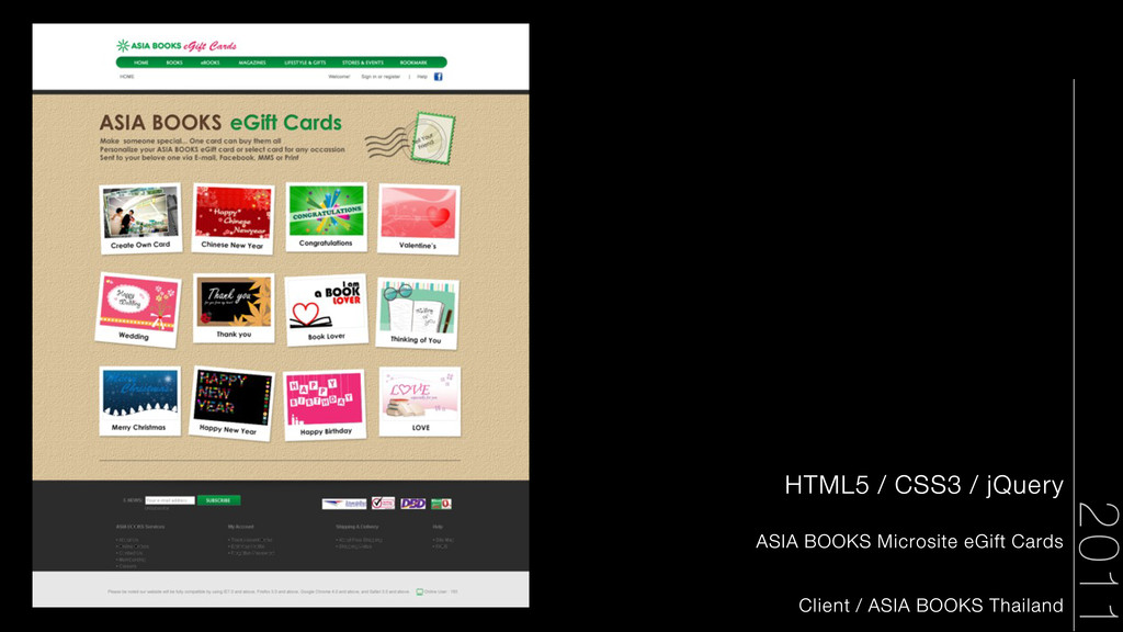 2011 HTML5 / CSS3 / jQuery ASIA BOOKS Microsite...