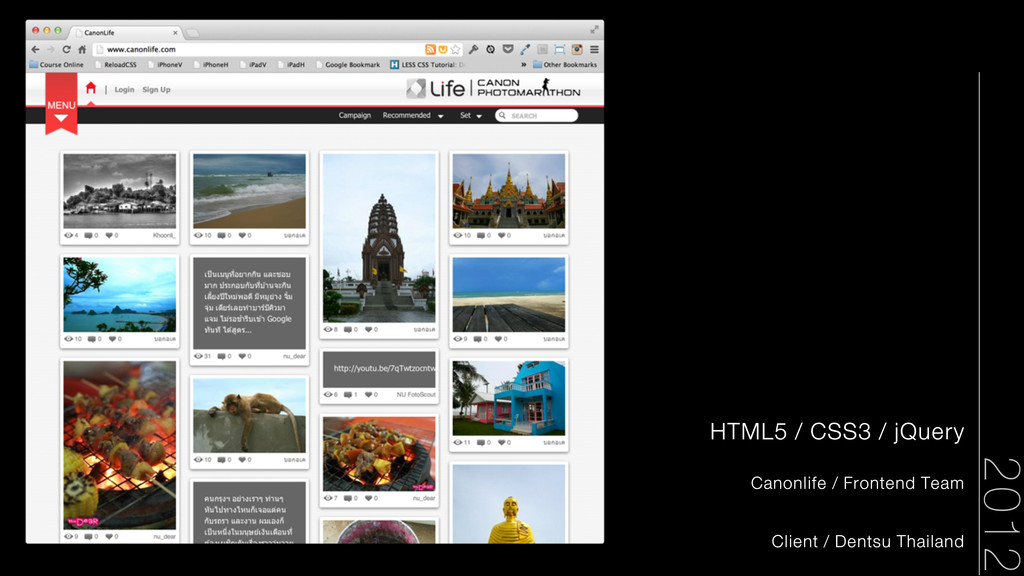 HTML5 / CSS3 / jQuery Canonlife / Frontend Team...