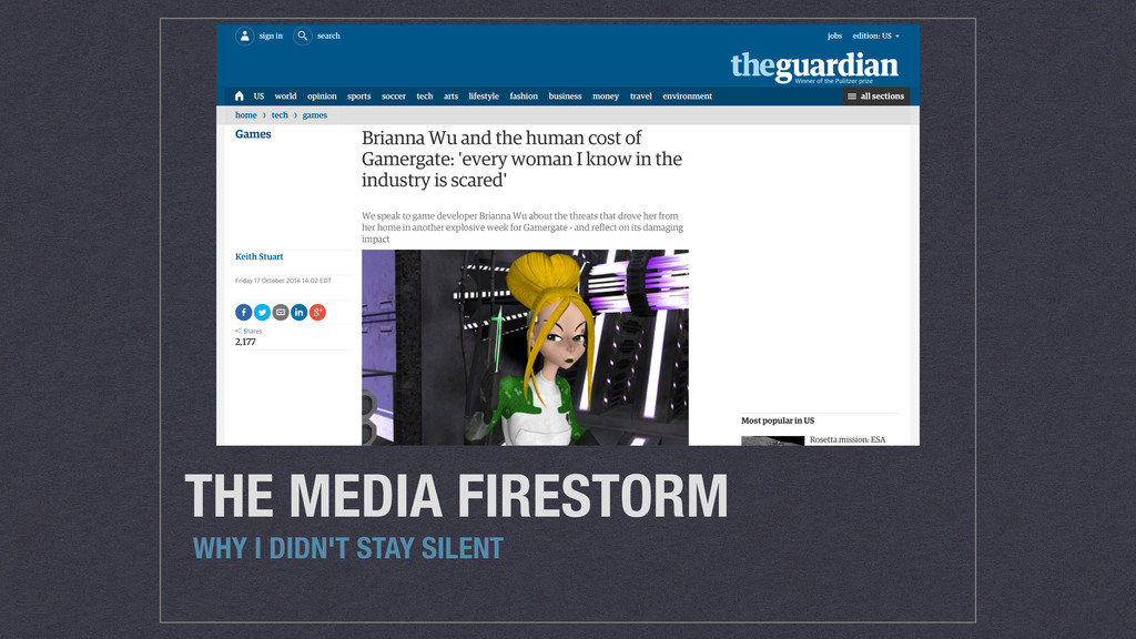 THE MEDIA FIRESTORM WHY I DIDN'T STAY SILENT