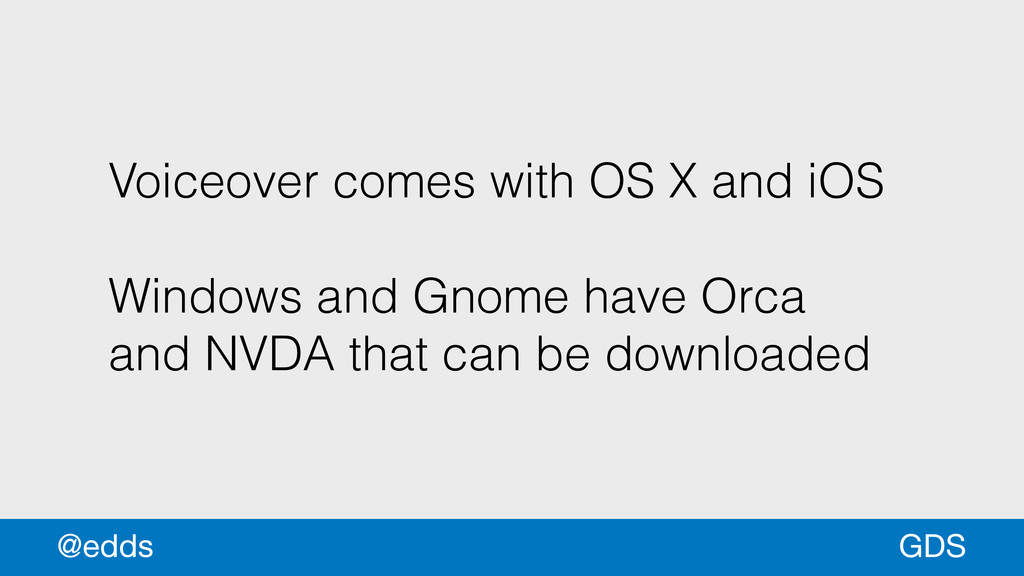 Voiceover comes with OS X and iOS ! Windows and...