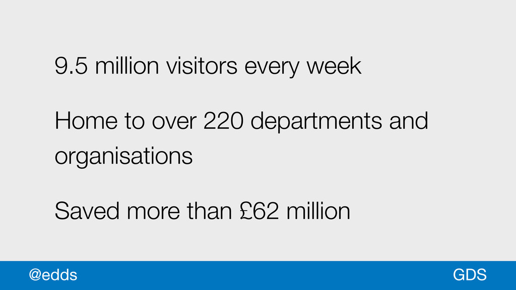 GDS @edds 9.5 million visitors every week Home ...