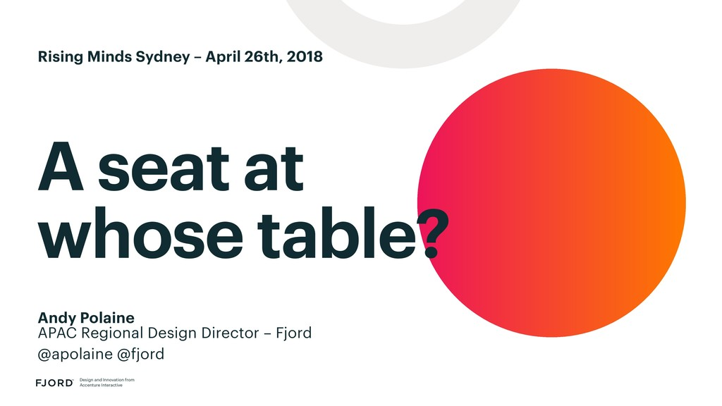 A seat at whose table? Design and Innovation fr...