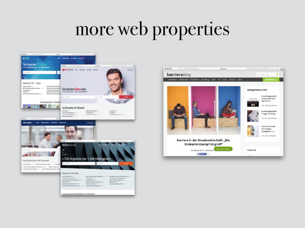 more web properties