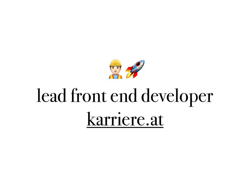 $ lead front end developer karriere.at