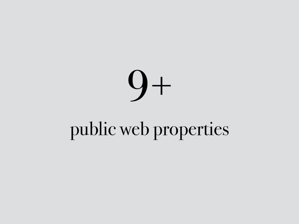 9+ public web properties