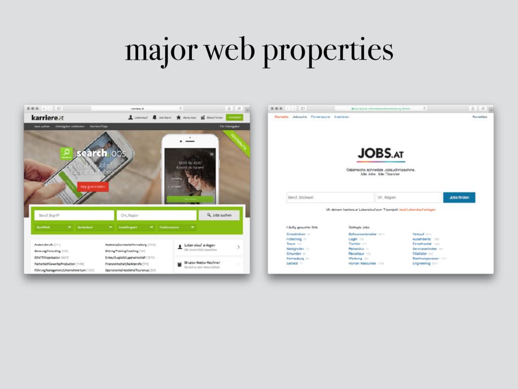 major web properties