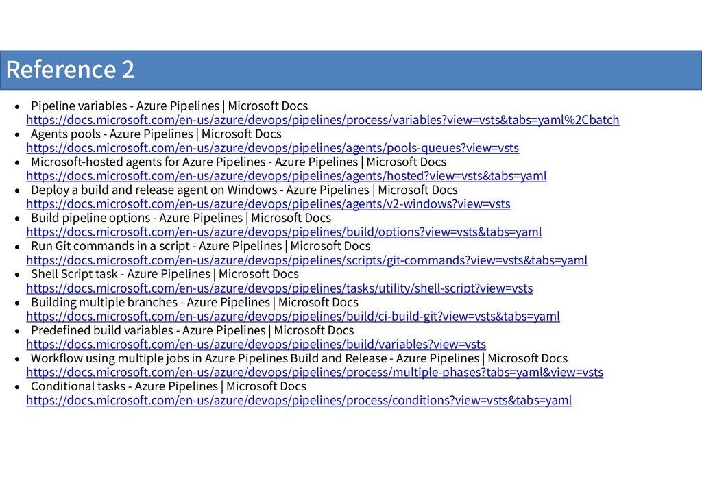 Reference 2  Pipeline variables - Azure Pipeli...