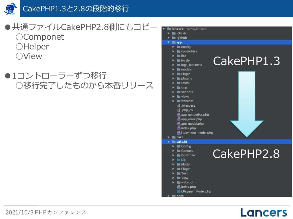 2021/10/3 PHPカンファレンス CakePHP1.3と2.8の段階的移行 CakeP...