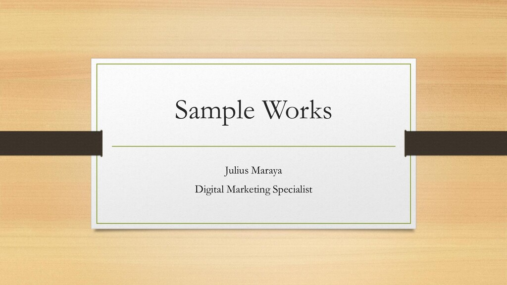 Sample Works Julius Maraya Digital Marketing Sp...