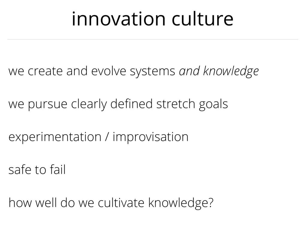 experimentation / improvisation we create and e...