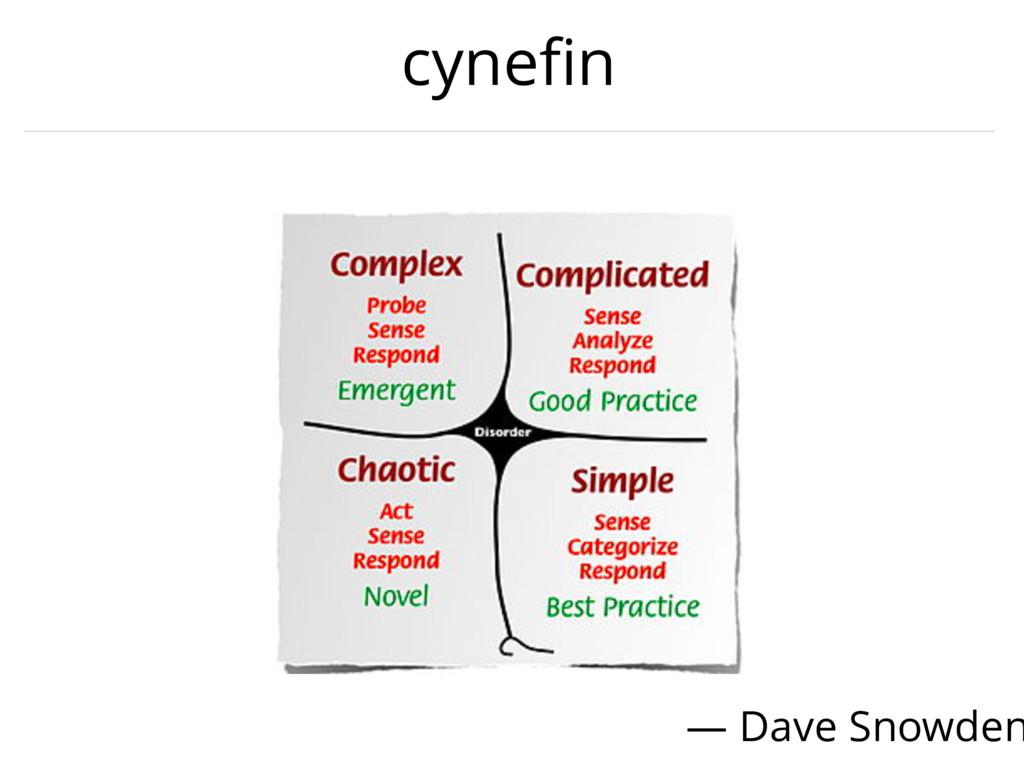 cynefin — Dave Snowden