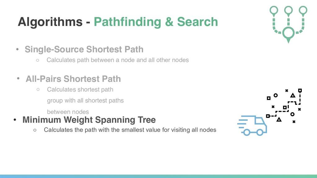• Single-Source Shortest Path ○ Calculates path...