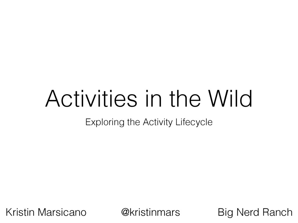 Activities in the Wild Exploring the Activity L...