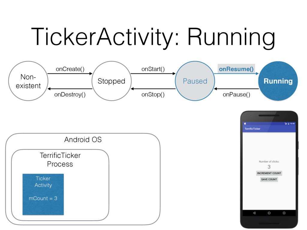 TickerActivity: Running onDestroy() Non- existe...