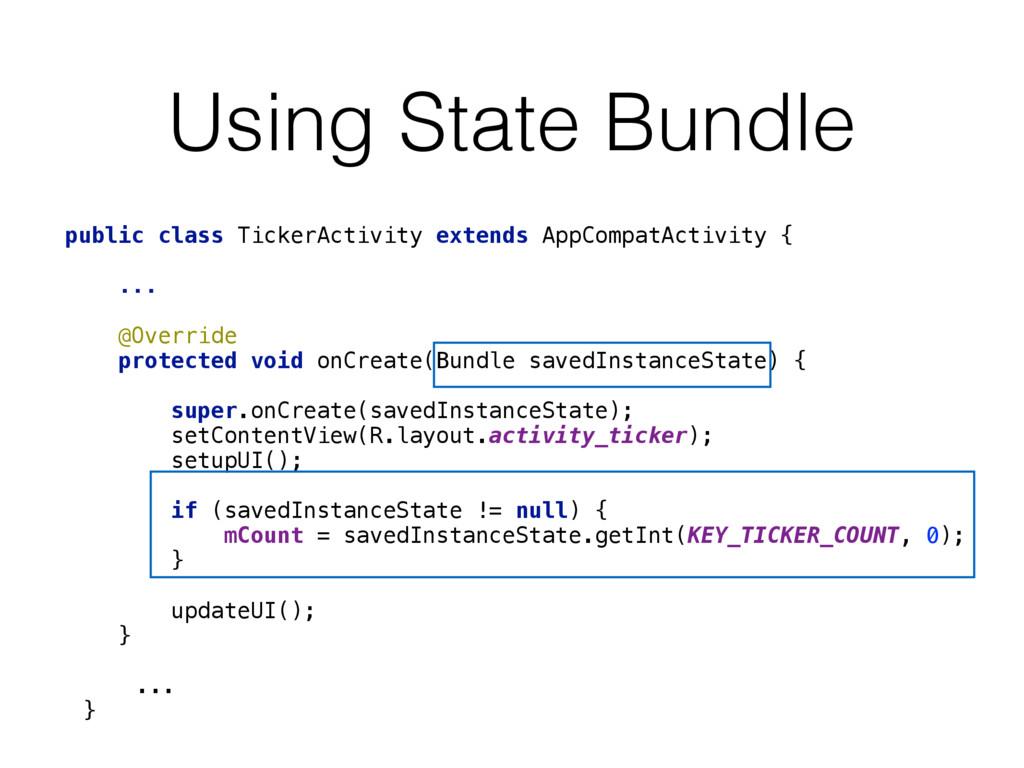 public class TickerActivity extends AppCompatAc...