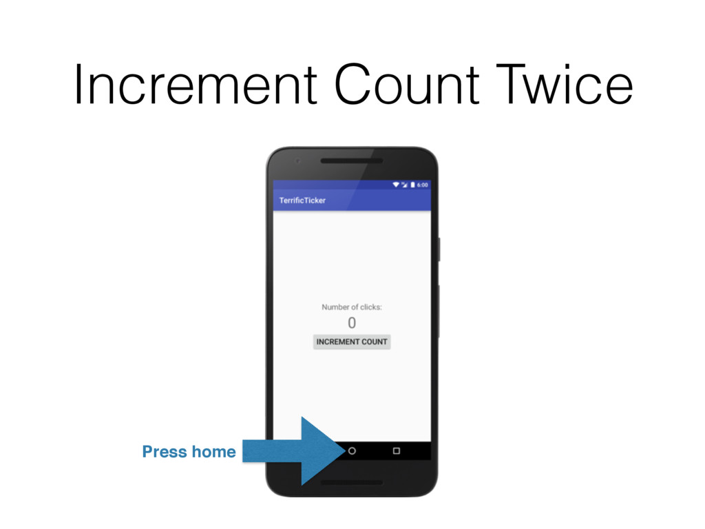 Increment Count Twice Press home