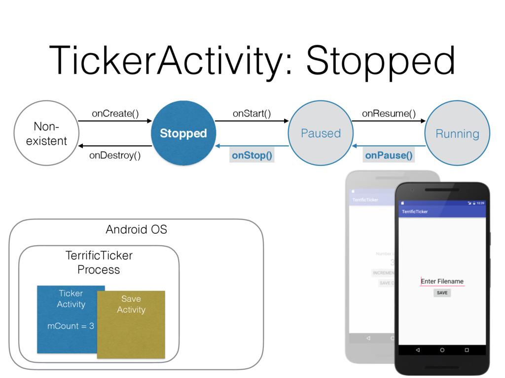 TickerActivity: Stopped onDestroy() Non- existe...