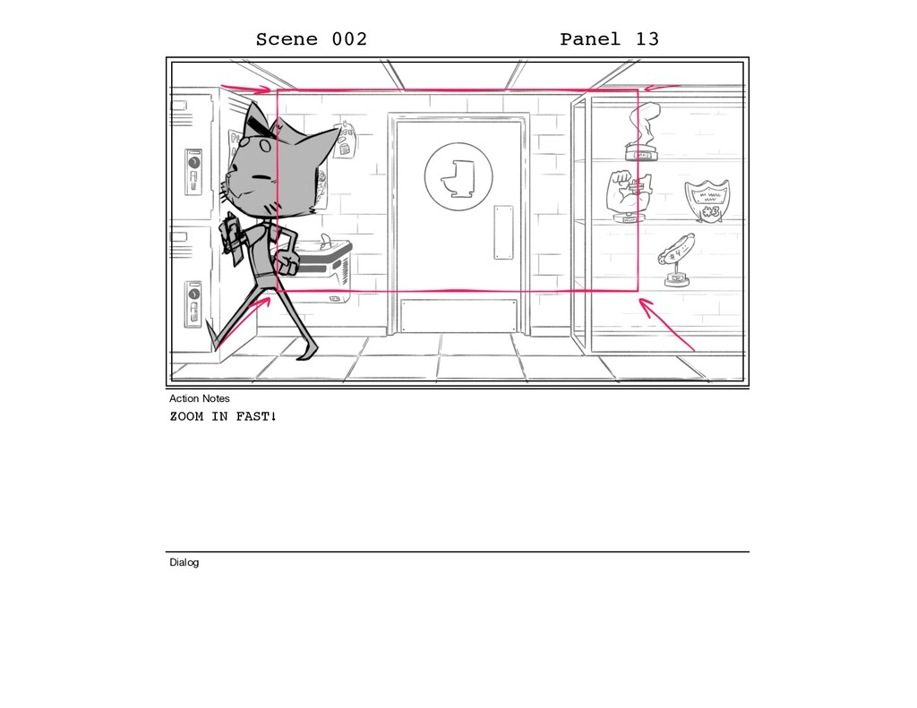 ZOOM IN FAST! Scene 002 Panel 13 Dialog Action ...