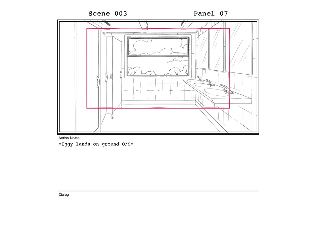 *Iggy lands on ground O/S* Scene 003 Panel 07 D...