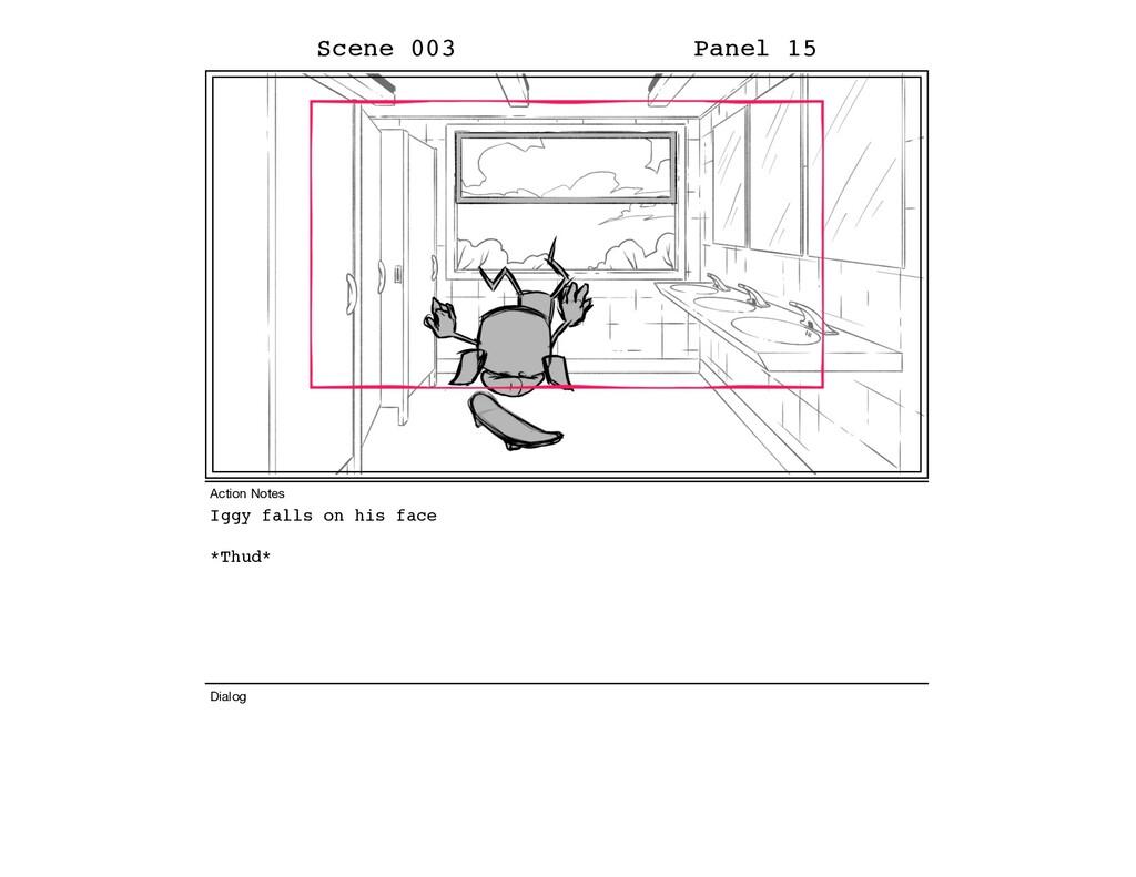 Iggy falls on his face *Thud* Scene 003 Panel 1...