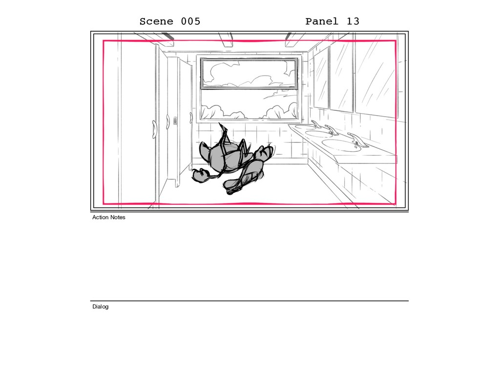 Scene 005 Panel 13 Dialog Action Notes