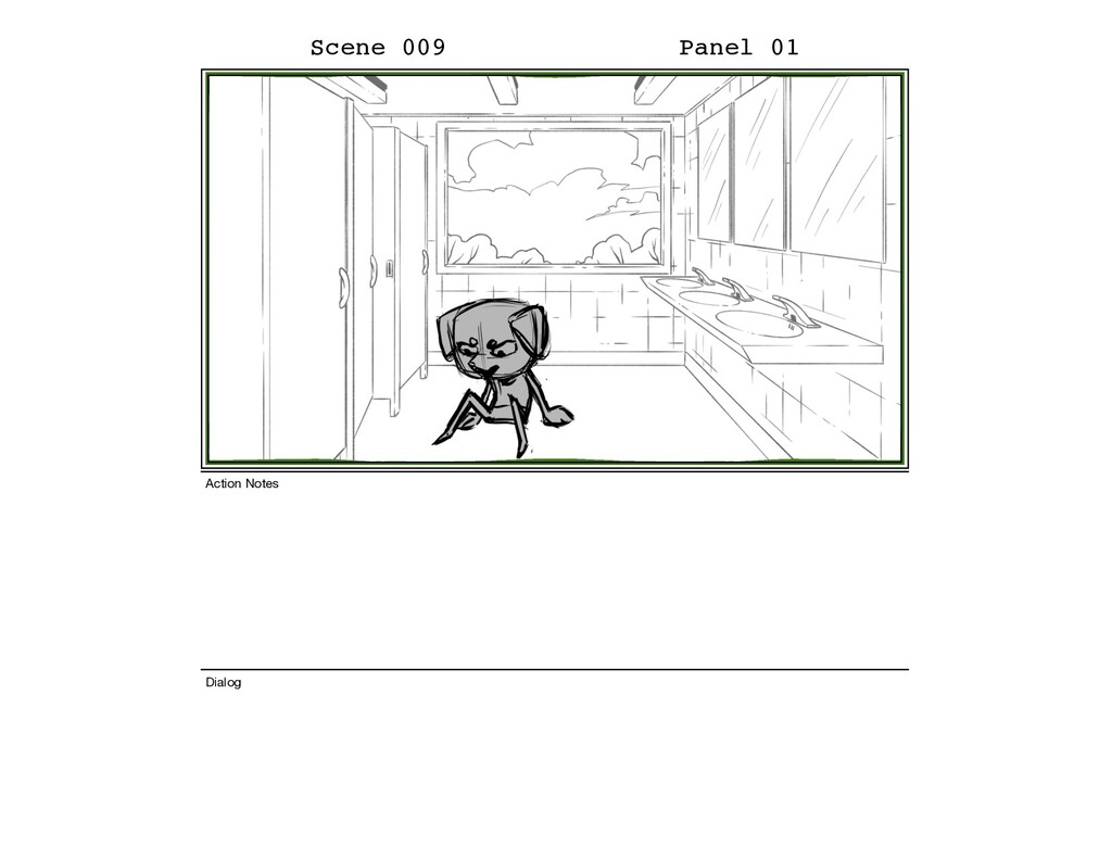 Scene 009 Panel 01 Dialog Action Notes