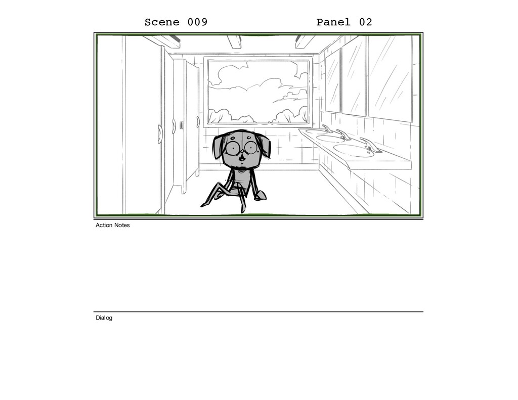 Scene 009 Panel 02 Dialog Action Notes