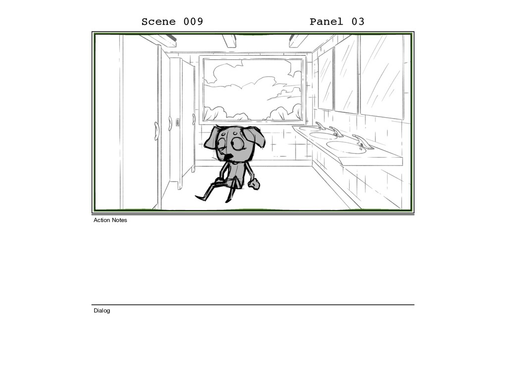 Scene 009 Panel 03 Dialog Action Notes