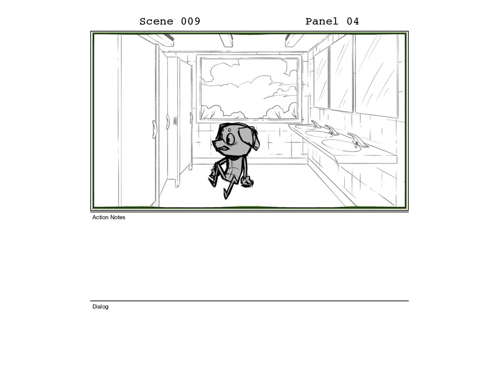 Scene 009 Panel 04 Dialog Action Notes