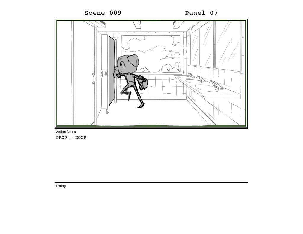 PROP - DOOR Scene 009 Panel 07 Dialog Action No...