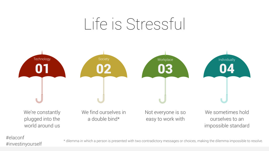 Life is Stressful 02 Society We find ourselves ...
