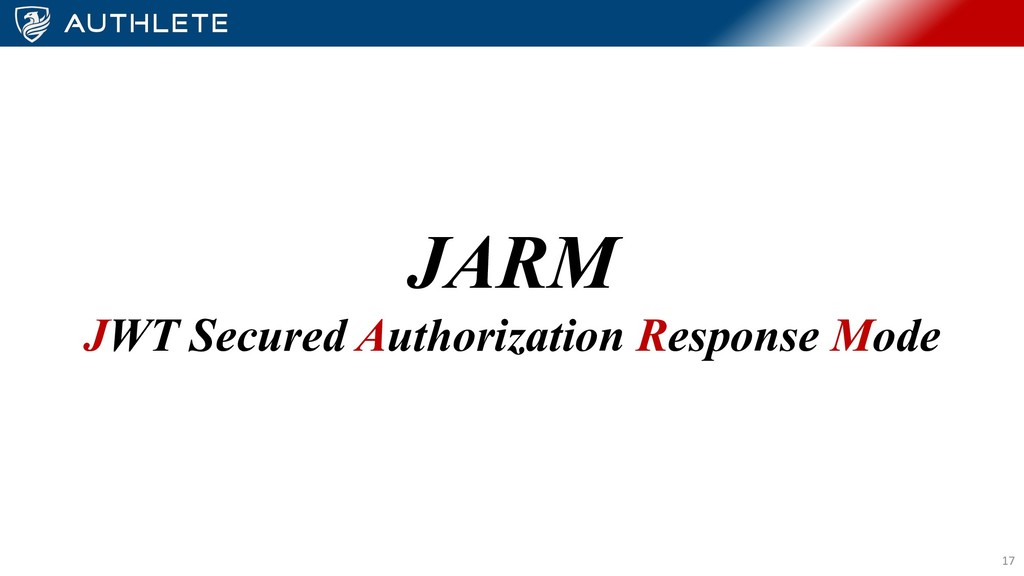 JARM JWT Secured Authorization Response Mode 17