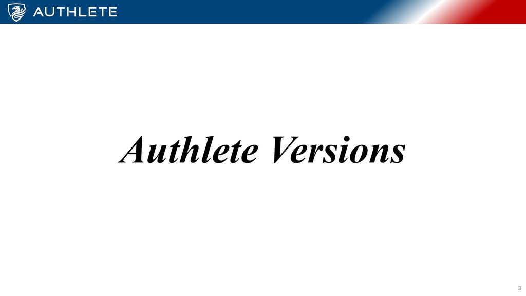 Authlete Versions 3