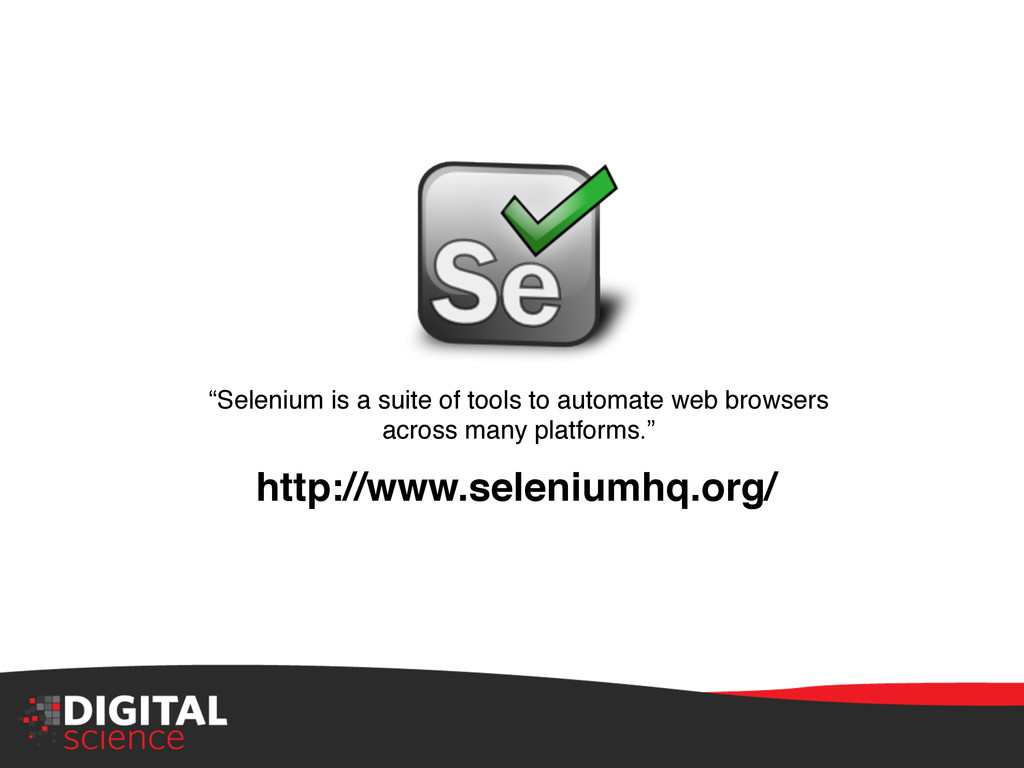 """""""Selenium is a suite of tools to automate web b..."""
