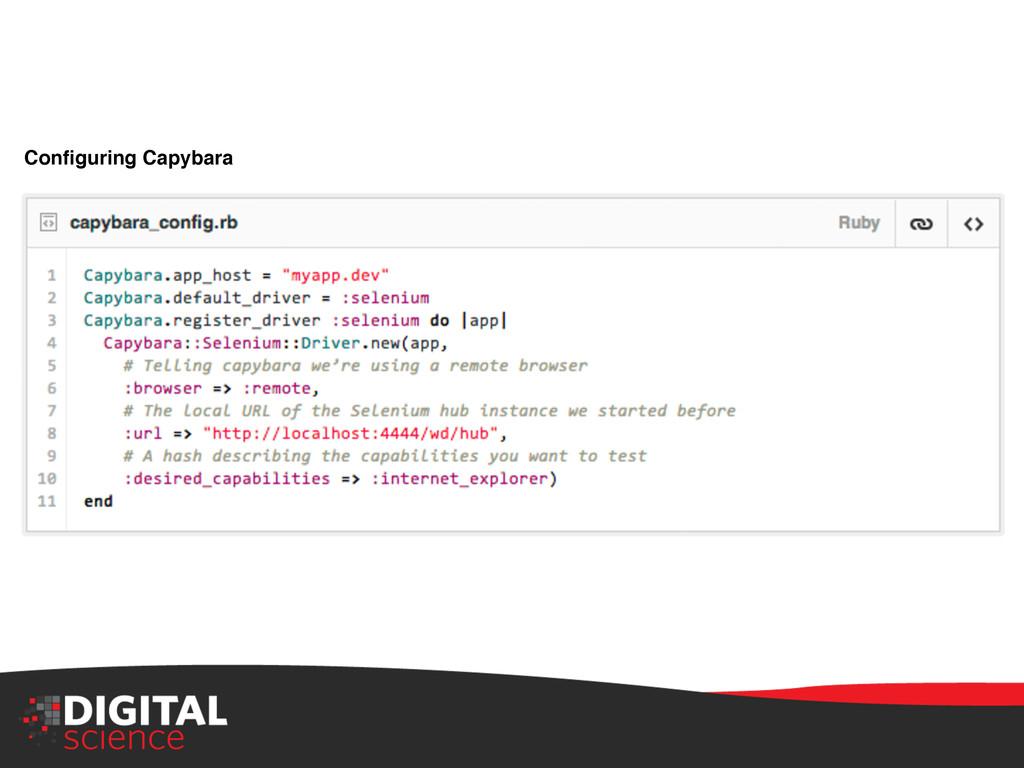 Configuring Capybara!
