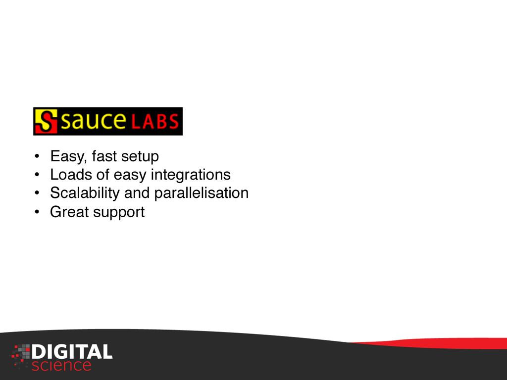 "• Easy, fast setup"" • Loads of easy integrati..."