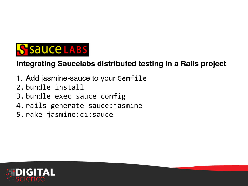 Integrating Saucelabs distributed testing in a ...