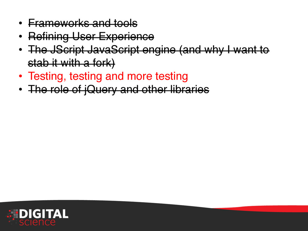 """• Frameworks and tools"""" • Refining User Experi..."""