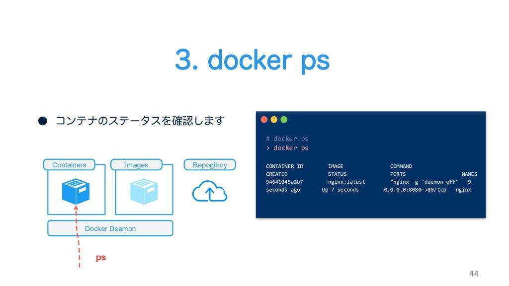 EPDLFSQT 44 # docker ps > docker ps CONTAI...