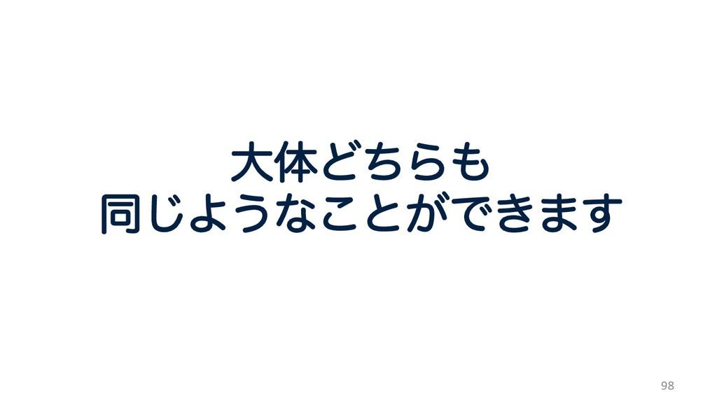 98 େମͲͪΒ ಉ͡Α͏ͳ͜ͱ͕Ͱ͖·͢