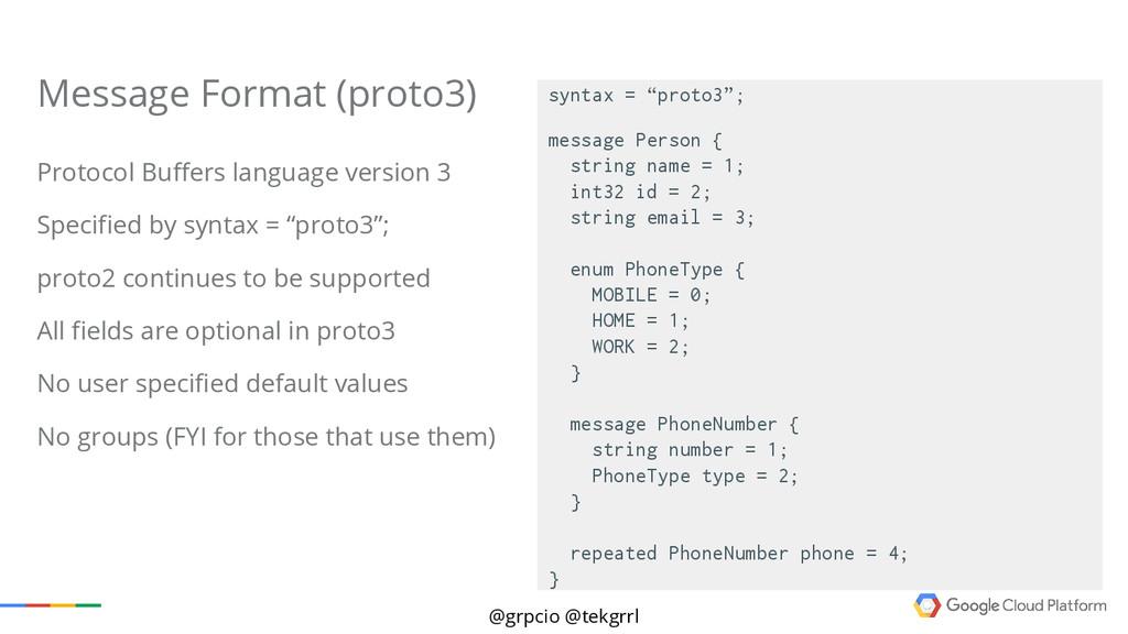 @grpcio @tekgrrl Protocol Buffers language vers...